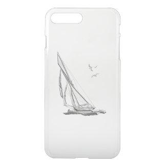Nautisk segelbåt för krom iPhone 7 plus skal