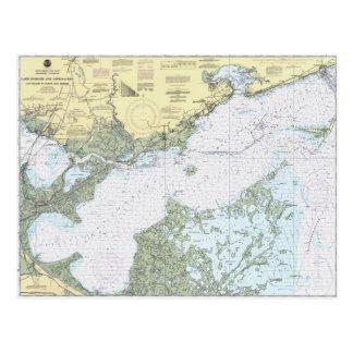 Nautisk sjöBorgne LA kartlägger vykortet Vykort