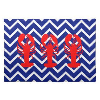 Nautisk sparre & röda hummer bordstablett