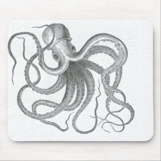 Nautisk steampunkbläckfiskvintage kraken scien fi musmatta