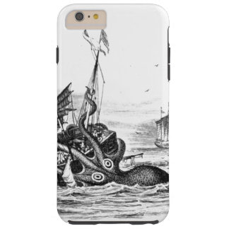 Nautisk steampunkbläckfiskvintage kraken tough iPhone 6 plus skal