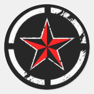 nautisk stjärna runt klistermärke