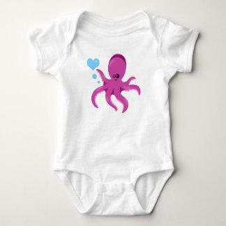 Nautisk unisex- bebisromper för bläckfisk! tee shirt