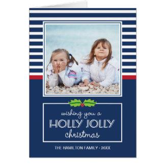 Nautisk vikt kort för randjärnek Jolly jul