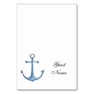 Nautiska blått för namn för bord för strand för bordsnummer