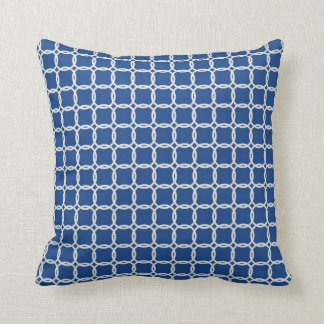 Nautiska blått- och vitrep kudde