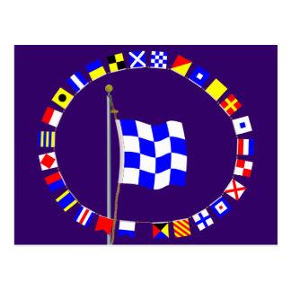 """Nautiska November """"signalerar inte"""" flagga Vykort"""