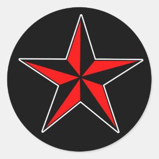 Nautiska stjärnaklistermärkear runt klistermärke