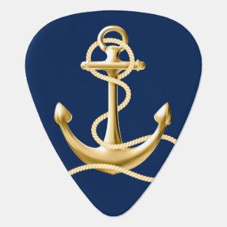 Nautiskt ankra den marinblåa gitarrplockan gitarr pick