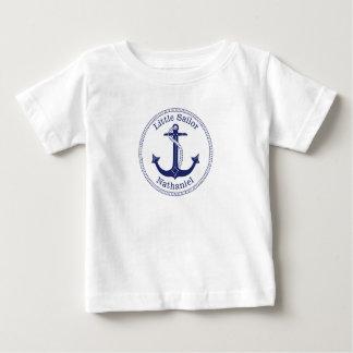 Nautiskt ankra det marinblåa lite sjömannamn t shirts