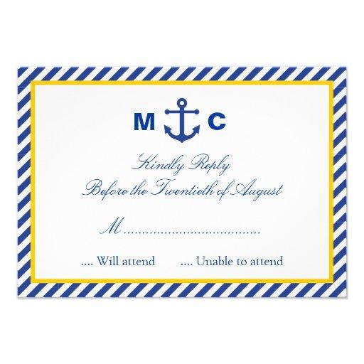 Nautiskt bröllop OSAkort Personliga Inbjudan