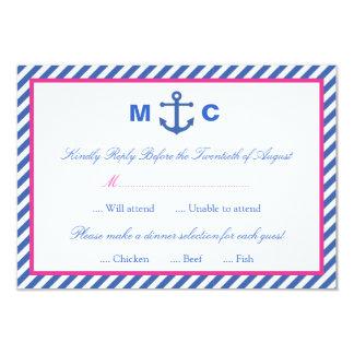 Nautiskt bröllop OSAkort 8,9 X 12,7 Cm Inbjudningskort