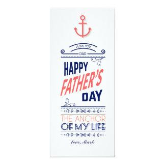Nautiskt fars dagkort 10,2 x 23,5 cm inbjudningskort