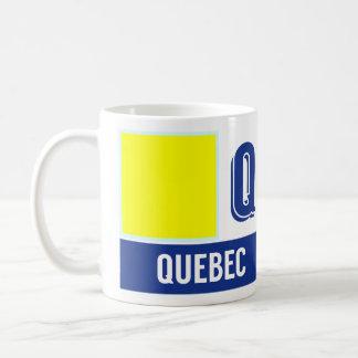 """Nautiskt flaggoralfabet """"Q"""" Quebec Kaffemugg"""