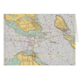 Nautiskt kartlägga - svårighetar av Mackinac - OBS Kort