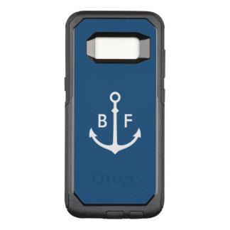 Nautiskt Monogramfodral OtterBox Commuter Samsung Galaxy S8 Skal