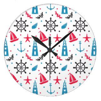 Nautiskt mönster för hav stor klocka