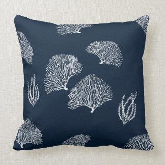 Nautiskt mönster för rev för blåttvitkorall kudde