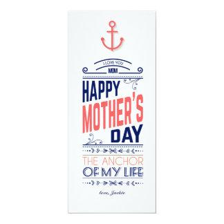 Nautiskt mors dagkort 10,2 x 23,5 cm inbjudningskort