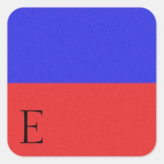 Nautiskt signalera flaggaalfabetklistermärke E Fyrkantigt Klistermärke