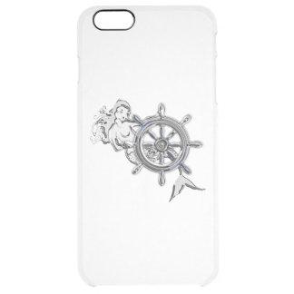 Nautiskt sjöjungfrutryck för krom clear iPhone 6 plus skal
