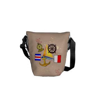 Nautiskt stänk - messenger bag