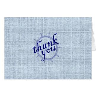 Nautiskt tackkort hälsningskort