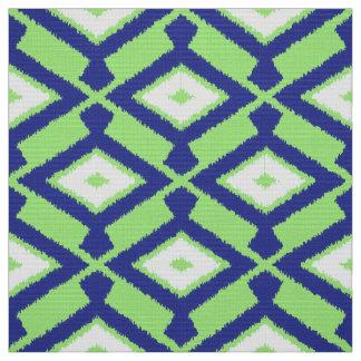 NavajoIkat mönster - grönt, indigoblå blått och Tyg