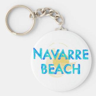 Navarre strandFlorida artsy design Rund Nyckelring