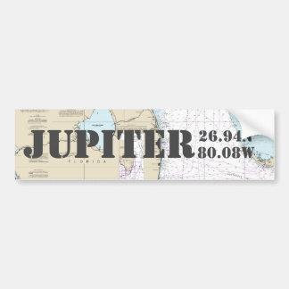 Navigering för Jupiter FL frihetlängd kartlägger Bildekal