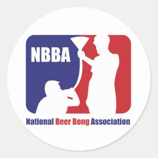 NBBA Nationatl öl Bong anslutningen Runt Klistermärke