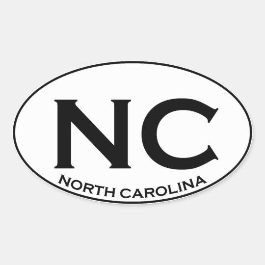 NC - North Carolina Ovalt Klistermärke