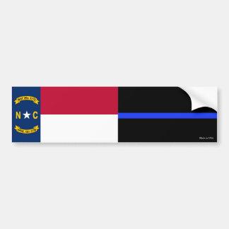 Nc-statlig flagga & tunn blålinjenflaggabildekal bildekal