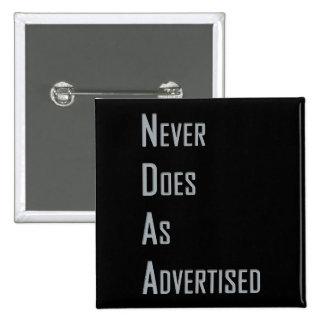 NDAA - Gör aldrig som annonserat Standard Kanpp Fyrkantig 5.1 Cm