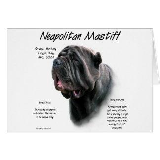 Neapolitan historiedesign för Mastiff (blk) Hälsningskort