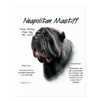 Neapolitan historiedesign för Mastiff (blk) Vykort