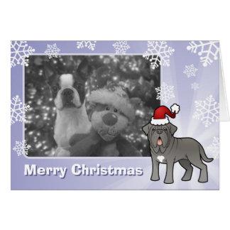 Neapolitan Mastiff för jul Hälsningskort