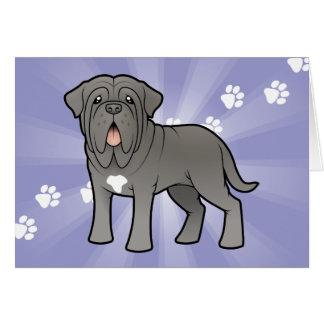 Neapolitan Mastiff för tecknad Hälsningskort