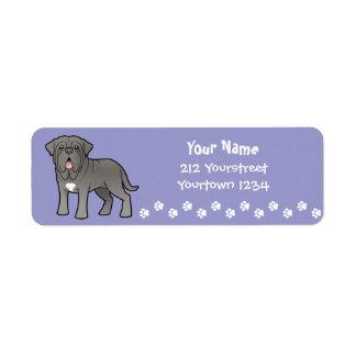Neapolitan Mastiff för tecknad Returadress Etikett