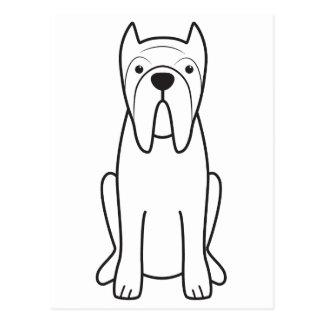 Neapolitan Mastiffhundtecknad Vykort