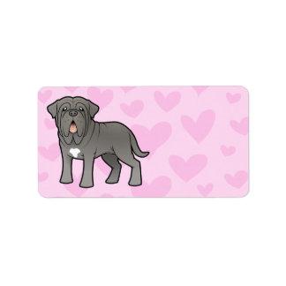 Neapolitan Mastiffkärlek Adressetikett