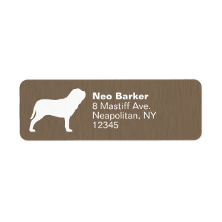 Neapolitan MastiffSilhouette Returadress Etikett