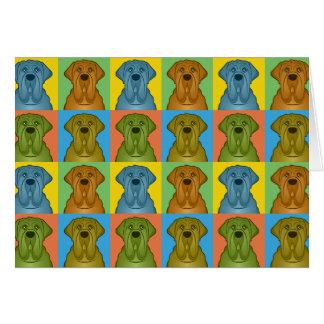 Neapolitan Pop-Konst för Mastiffhundtecknad Hälsningskort