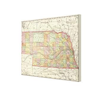 Nebraska Canvastryck