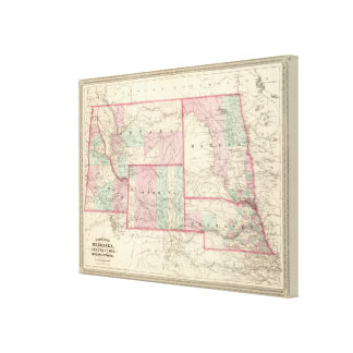 Nebraska, Dakota, Idaho, Montana och Wyoming Canvastryck