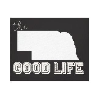 Nebraska - det bra livet i svart & vit canvastryck