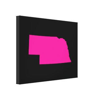 Nebraska i rosor canvastryck