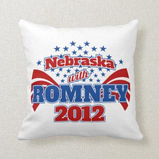 Nebraska med Romney 2012 Kudde