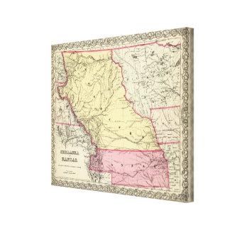 Nebraska och Kanzas Canvastryck