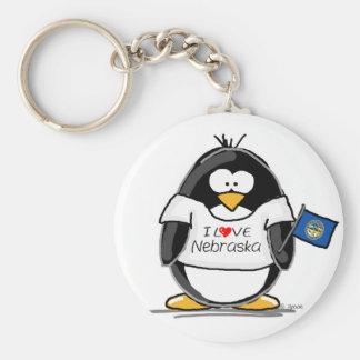 Nebraska pingvin rund nyckelring